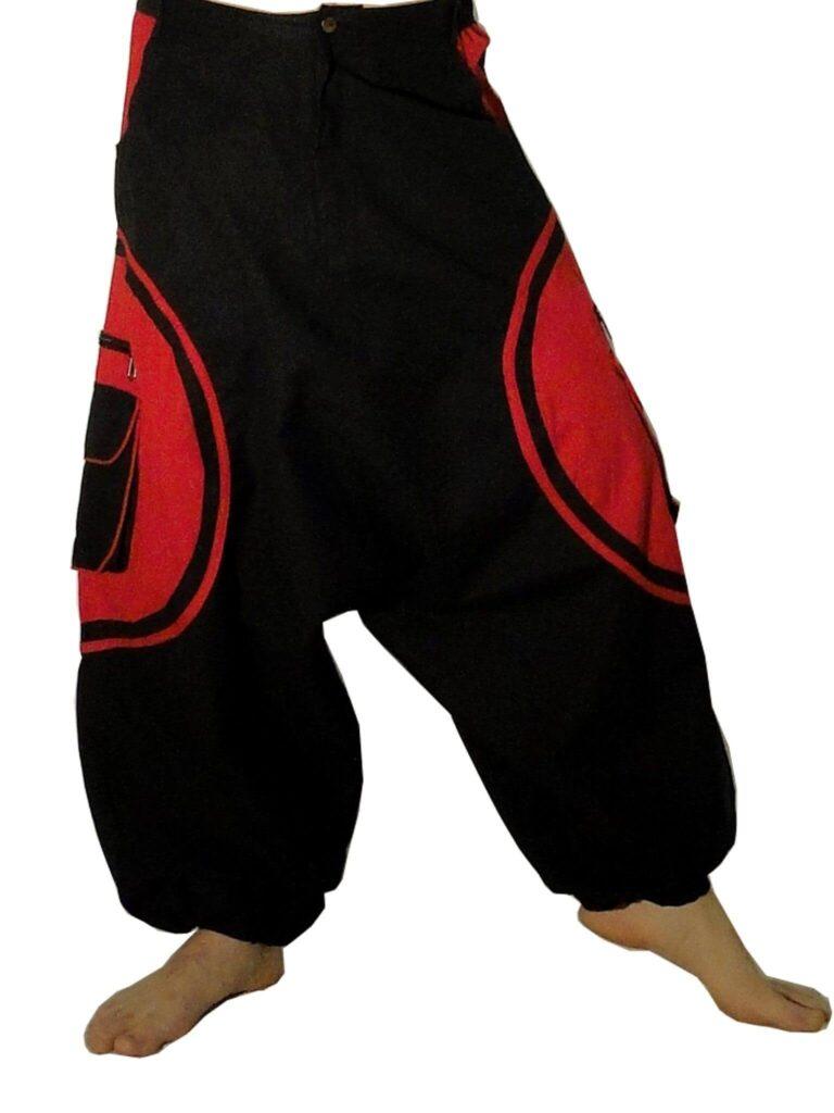 Vêtements ethniques : sarouel homme Sloty rouge et noir | Sarouel homme,  Vetement ethnique, Sarouel