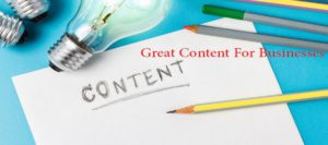 Writing Great Content For Businesses